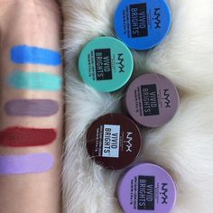Nyx Vivid Brights Liquid Eyeliner Swatches Misc