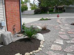 Rockscape Ideas for the Front Yard on Pinterest   Modern ... on Backyard Rockscape Ideas id=28521