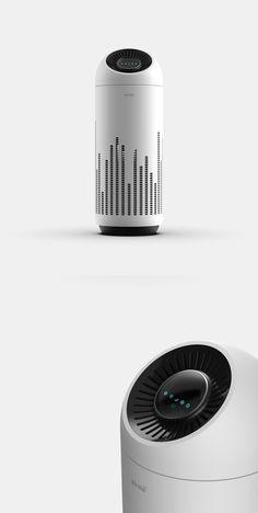 사용자의 생활 환경을 배려한 거실용 공기청정기 제품 디자인  #디자인 #제품디자인 #공기청정기 #산업디자인 #디자이너 #제품디자이너 #디자인포트폴리오 #디자인레퍼런스 #productdesign #design #designer #portfolio #white #livingroom #interior Audio Design, Speaker Design, Design Case, Web Design, Fabric Shaver, Electric House, Designer Pumps, Robot Design, Higher Design