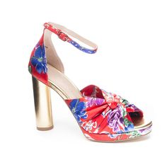 Chinese Laundry Flory heels. Gold heel, floral print, dancing shoes, statement shoes. Perfect for date night and parties.