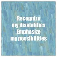 Focusing on the positive on disability and how it can be  inspiring!