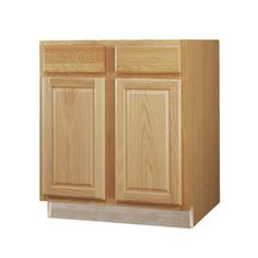 Kitchen Classics 36-in Portland Oak Door and Drawer Base Cabinet