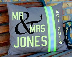 Wedding Pillow Firefighter