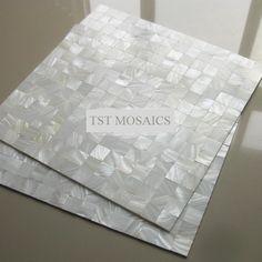 White luster mother of pearl tiles backsplash kitchen bathroom mirror tile backspalsh wall shell mosaics mother of pearl tile