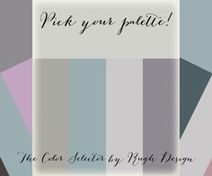 The Color Selector by Rugh Design is a quick and easy way for you to receive paint selection advice for your space. Come pick your palette today!