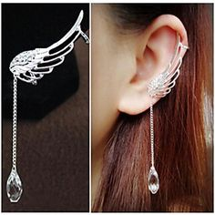 European Fairy Wings Alloy Ear Cuffs(1,2)(1Pc) - USD $ 3.99