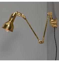 "Solid Brass Mek-Elek ""Mekelite"" Articulated Light, Check with customer service for available quantities. Salon Lighting, Sconce Lighting, Home Lighting, Art Nouveau, Art Deco, Crystal Lights, Pulley Light, Lamp Light, Tom Dixon"
