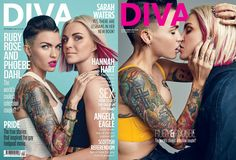 Diva Magazine's September issue features an exclusive interview and photoshoot with Ruby Rose and her fiancé, designer Phoebe Dahl. | Ruby Rose And Phoebe Dahl Prove They Are The Cutest Couple Out There