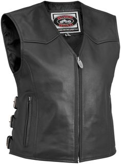 River Road Plains Women's Street Riding Leather Motorcycle Vest #RiverRoad