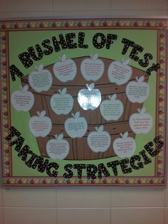 High school bulletin board ideas...test taking strategies.