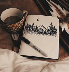 art, coffee, cute, design, draw, drawing, drawings, love, natural, nature, people, talent, tumblr, we heart it, winter
