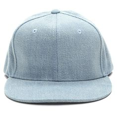 BLUE Down For Denim Cap (145 UYU) ❤ liked on Polyvore featuring accessories, hats, blue fillers, blue, accessories - hats, baseball cap hats, flat brim cap, ball cap, denim hats and brimmed hat