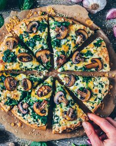 Vegan Garlic Mushroom and Spinach PizzaYou can find Pizza recipes and more on our website.Vegan Garlic Mushroom and Spinach Pizza Vegan Vegetarian, Vegetarian Recipes, Cooking Recipes, Healthy Recipes, Vegan Keto, Vegan Food, Diet Recipes, Diet Meals, Pizza Recipes Italian