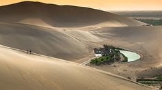 Crescent Lake Oasis, Gobi Desert, China