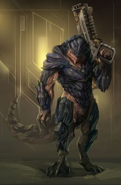 Super alien concept art mass effect Ideas Mass Effect Characters, Sci Fi Characters, Alien Creatures, Fantasy Creatures, Alien Character, Character Art, Mass Effect Krogan, Aliens, Space Opera