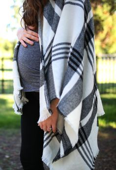 Maternity Fashion   Fall Wardrobe Ideas   Poncho Styling Tips   How to Style a Poncho   Maternity Style for Fall and Winter    Katie Did What