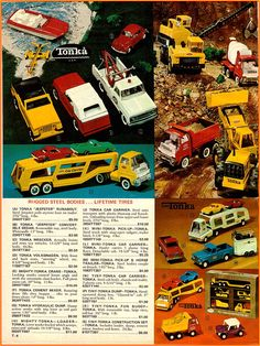 vintage toys of the 1970's | 1970 Christmas Catalog Tonka Toys Ad