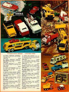 vintage toys of the 1970's | 1970 Christmas Catalog Tonka Toys Ad