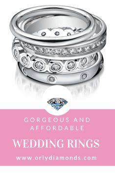 White Gold and diamond wedding band and platinum Diamond wedding bands