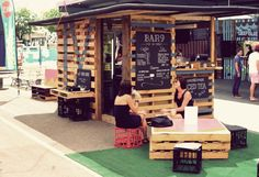 shipping pallet pop up cafe - Google Search