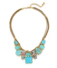 Rosalie Bay Necklace - Gold and Aqua