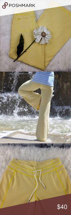 "SALE Lululemon Yellow Voyage Sweat Pants Awesome Lululemon Yellow Voyage Sweat Pants 33"" Inseam lululemon athletica Pants"