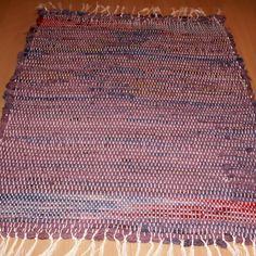 tkaný kobereček - hadrák - fialový