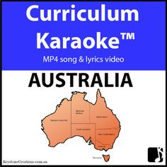 Students READ / SING & LEARN along as the curriculum-aligned song plays and lyrics display on your classroom whiteboard and other technological devices! 'AUSTRALIA' (Middle/Upper Primary), is acurriculum-aligned song that discusses such things as states, capital cities, seas, islands, rivers, significant places, sites & environments, Aboriginal place names, etc. http://www.teacherspayteachers.com/Product/AUSTRALIA-Curriculum-Karaoke-MP4-Song-Lyrics-for-Whiteboard-3333172 Teacher Pay Teachers, Teacher Books, Elementary Music, Elementary Teacher, Classroom Inspiration, Classroom Ideas, Teaching Resources, Teaching Ideas, Music Education