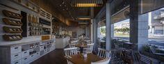 Michalis – custom lighting fixtures  Light Crumble: lighting fixture collection for Michalis bakery & Cafe   Architect- Yaron Tal  Lighting- Studio Beam