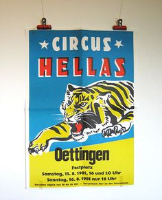 Vintage German circus poster on Etsy