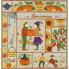 Broderie toile imprimée Octobre Cécile Vessière Royal Paris 6477.10 - La Maison du Canevas et de la Broderie