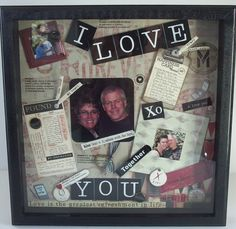 12X12 Custom Shadow Box for Wedding or Anniversary by zoecottage,