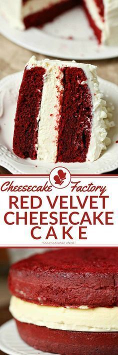This Cheesecake Factory Red Velvet Cheesecake Cake Recipe is simply AMAZING! Wow your guests for Valentines Day Christmas Birthdays and dinner parties!