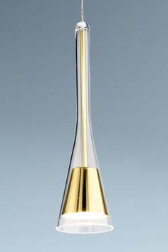 Note suspension simple finition bronze poli Verre soufflé, support rond, éclairage halogène, transformateur intégré - Holtkötter - Suspension 394 euros VraimentBeau