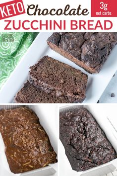 Chocolate Zucchini Bread, Zucchini Bread Recipes, Healthy Chocolate, Keto Recipes, Snack Recipes, Dinner Recipes, Smoothie Recipes, Sweet Cornbread, Keto Mug Cake