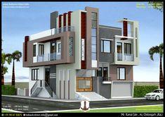 3d Home Design, Best Modern House Design, Duplex House Design, House Front Design, Building Elevation, House Elevation, Front Elevation, Autocad 3d, Wooden Main Door Design