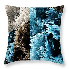 Abstract Throw Pillow featuring the photograph Cypress Branches No.3 by Cesar Padilla