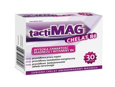TactiMag chelate B6 x 30 tablets, chelated magnesium