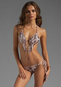 225a7adc6a966 Shop for Acacia Swimwear Montauk Fringe Triangle Top in Native at REVOLVE.  Free day shipping and returns