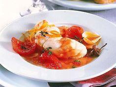 Seeteufelfilet auf Tomaten-Anis-Soße (5g KH p. P.) #lowcarb #fish #anise #Paleo