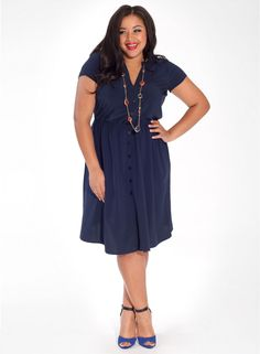 Sarah Dress in Navy IGIGI