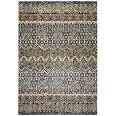 Rizzy Home Bennington Double Pointed Area Rug 6 Ft. 7 In. X 9 Ft. 6 In. Gray, Beige