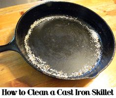 If you have a cast iron skillet, pot, or dutch oven, make sure to clean it properly and it will last for years.  You also need to make sure to clean it properly to not remove the seasoning that most people love about cast iron pots.  Here are the steps to properly clean a cast iron skillet.