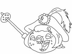 Angry birds epic coloring page - prince porky