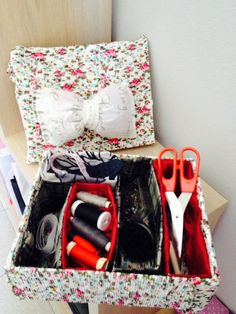 Amorevole Scatola porta oggetti fatta a mano - Lovely Box for handmade items  rajanina handmade