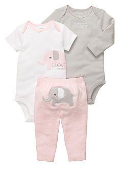 Carter\'s® 3-Piece Elephant Pant Set