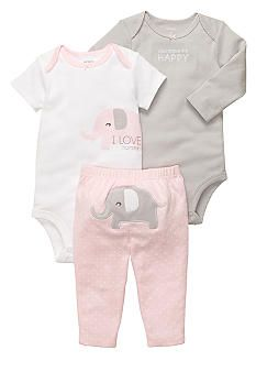 Carter\'s® 3-Piece Elephant Pant Set