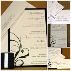 Wedding Invitation Suite by Fort Lauderdale Invitations - Visit our website for ordering information! Fort Lauderdale * Hollywood * Miami * Palm Beaches * We Ship Worldwide
