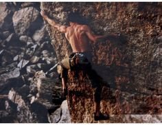 Jordan Mills making the delicate moves on the 40-foot arête of Bladerunner look like a walk in the park. Gunks, early 90s. From the Rock and Snow BLOG