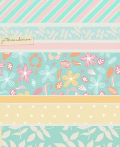 Washi tape, flowers, polka dots and teacups!